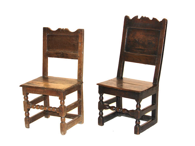 A set of two Louis XIV side chair early 18th century