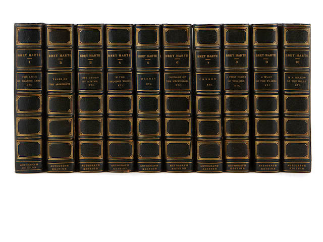 HARTE, BRET. 1836-1902. The Writings. Boston and New York: Houghton, Mifflin and Company, [1896].