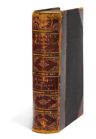 BAUER, MAX.   Precious Stones ... with an Appendix on Pearls and Coral. London: Charles Griffin and Company, 1904.