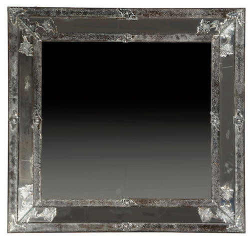 A large Venetian Baroque style mirror  19th century