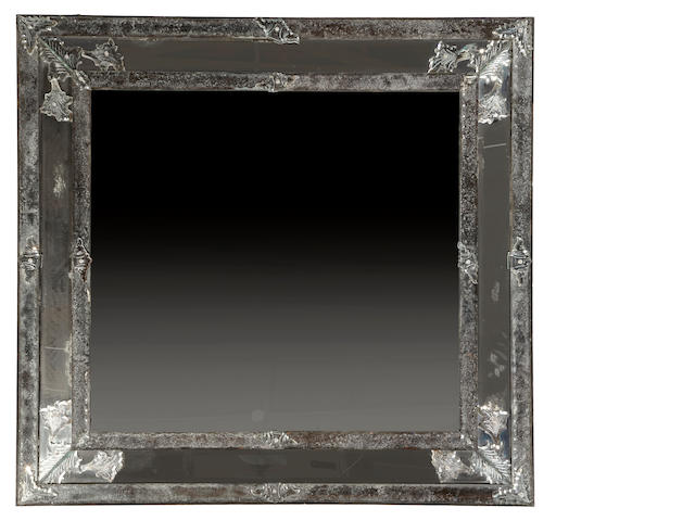 A large Venetian Baroque style mirror <BR />19th century