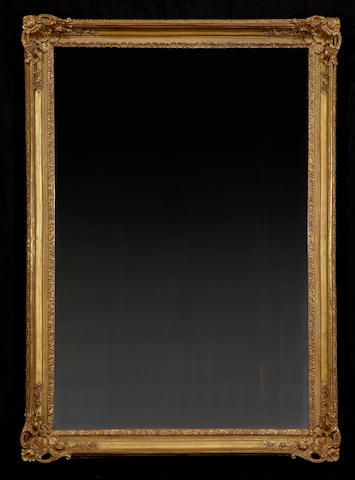 A Rococo style giltwood mirror<BR />20th century