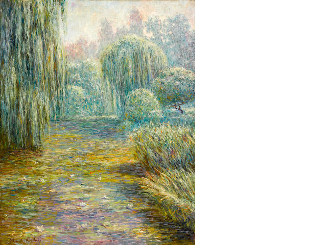 Blanche Hoschedé-Monet (French, 1865-1947) Le jardin à Giverny 36 x 28 3/8in. (91.5 x 72cm)