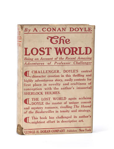 DOYLE, ARTHUR CONAN, SIR. 1859-1930. The Lost World. New York: Hodder & Stoughton and George H. Doran, [1912.]
