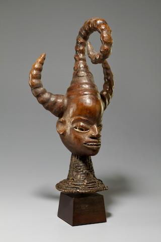 Ekoi Head Crest, Efut-Ibibio Group, Cross River Region, Nigeria '