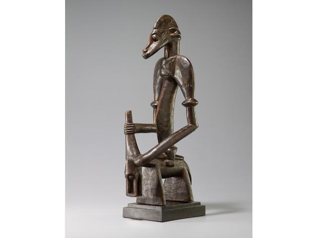 Rare Senufo Equestrian Figure, Ivory Coast