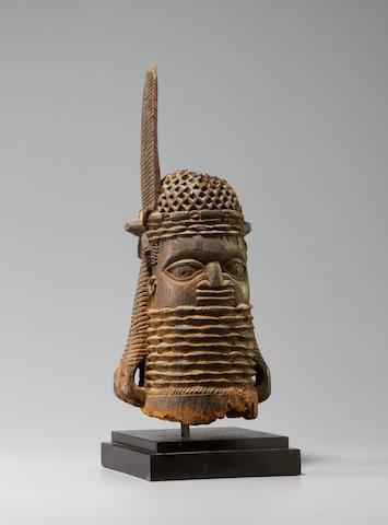 Benin Wood Altar Head