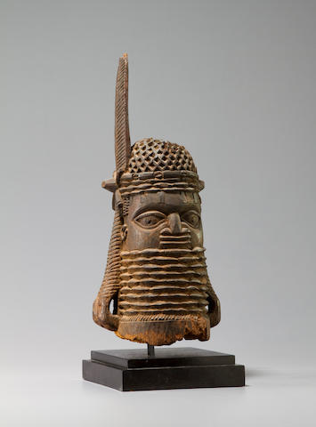 Benin Wood Altar Head