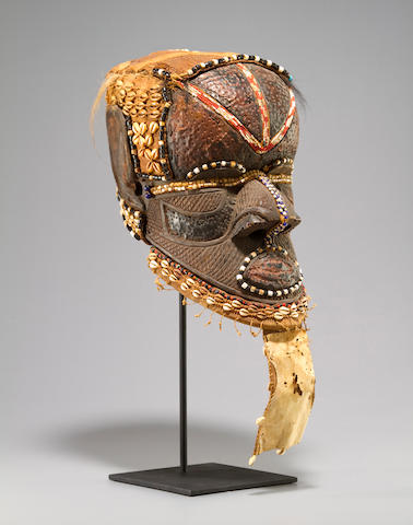 Kuba Helmet Mask, Bushoong, Central Congo Region, Democratic Republic of the Congo