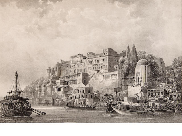 PRINSEP, JAMES. 1799-1840. Benares Illustrated in a Series of Drawings. Calcutta: Baptist Mission Press, 1831-1833.