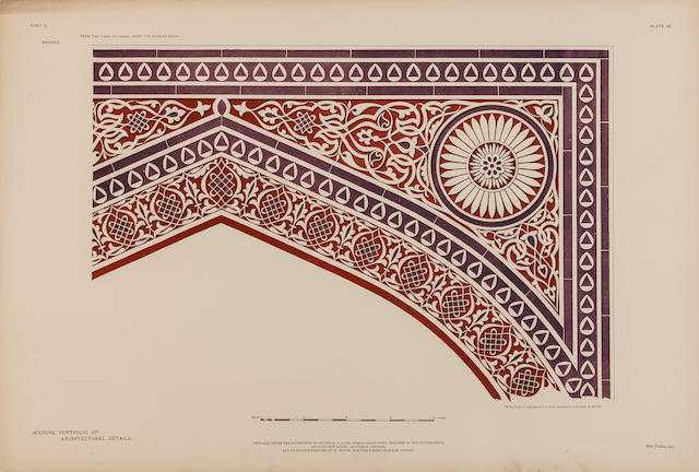 JACOB, SAMUEL SWINTON. 1841–1917. Jeypore Portfolio of Architectural Details. London: Bernard Quaritch, 1890.