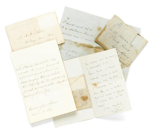 "SCOTT, ROBERT FALCON, CAPTAIN. 1868-1912. Autograph Letter Signed (""Robert Scott""), 2 pp, 12mo, conjoined leaves, Chelsea, October 16, 1905, to H.M. Mann,"