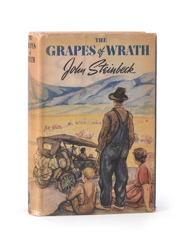 STEINBECK, JOHN. 1902-1968. The Grapes of Wrath. New York: Viking, [1939].