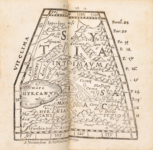 [GEOGRAPHY.] MELA, POMPONIUS. d. ca. AD 45.  [De orbis situ libri III. Basileae: Henricum Petri, 1564].