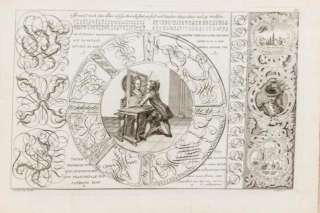 MERKEN, JOHANN. Liber artificiosus alphabeti maioris.... Mülheim: J.C. Eyrich, 1782-1785.<BR />