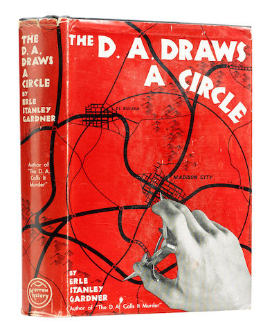GARDNER, ERLE STANLEY. 1889-1970. The D.A. Draws a Circle. New York: William Morrow and Company, 1939.