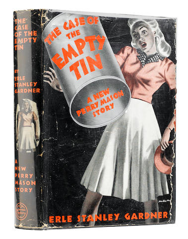 GARDNER, ERLE STANLEY. 1889-1970. The Case of the Empty Tin. New York: William Morrow and Company, 1941.