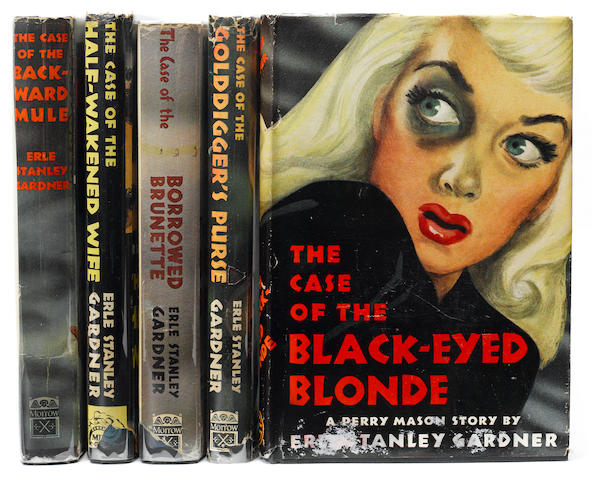 GARDNER, ERLE STANLEY. 1889-1970. Group of 5 titles, comprising: The Case of the Black-Eyed Blonde;
