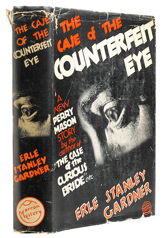 GARDNER, ERLE STANLEY. 1889-1970. The Case of the Counterfeit Eye.  New York: William Morrow and Company, 1935.