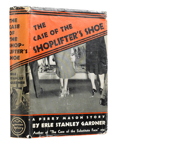 GARDNER, ERLE STANLEY. 1889-1970. The Case of the Shoplifter's Shoe.  New York: William Morrow and Company, 1938.