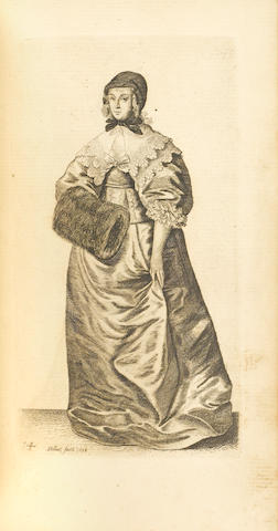 HOLLAR, WENCESLAUS. 1607-1677. Ornatus muliebris Anglicanus, or, The severall habits of English women from the nobilitie to the contry woman as they are in these times. London: Wenceslaus Hollar, 1640 [but a later issue, c.1755].