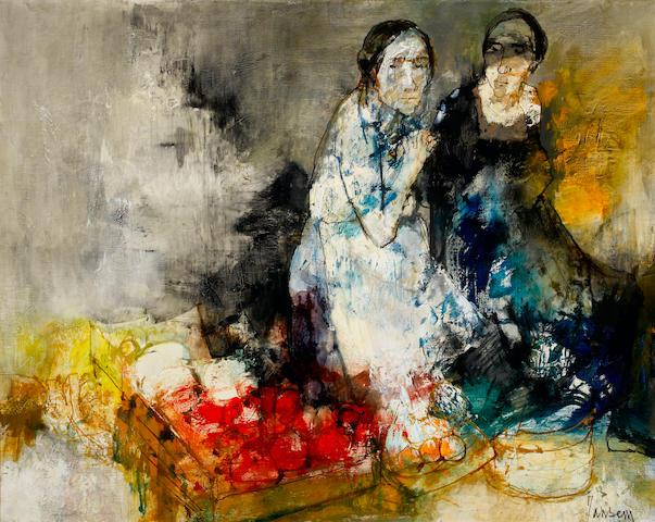 Jean Jansem (French, born 1920) Deux dans l'atelier 28 3/4 x 36 1/4in. (73 x 92cm)