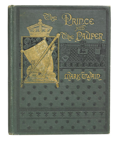 CLEMENS, SAMUEL LANGHORNE. 1835-1910.  The Prince and the Pauper. Boston: James R. Osgood & Company, 1882.