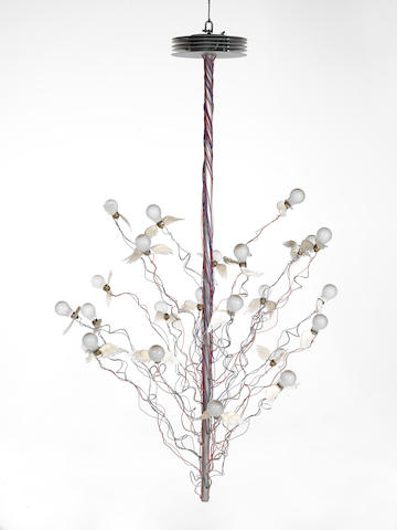 An Ingo Maurer ceiling light 'Birds, Birds, Birds' 1998 special commision
