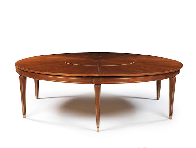 A large round dining table Italian c 1940