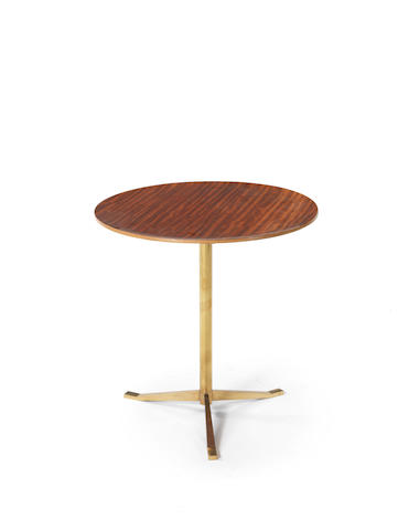 A wood and gilt metal side table by Osvaldo Borsani, Italian c1960