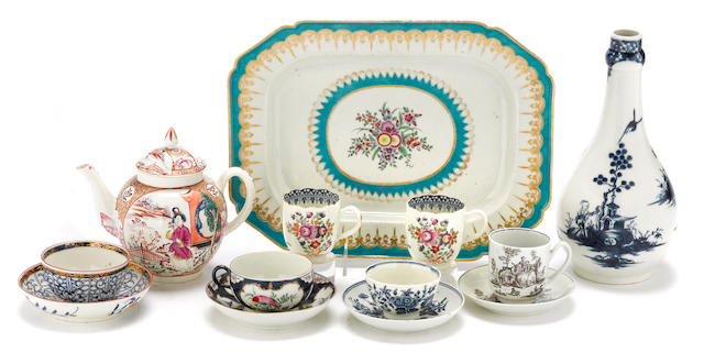 An assembled group of Worcester porcelain second half 18th century
