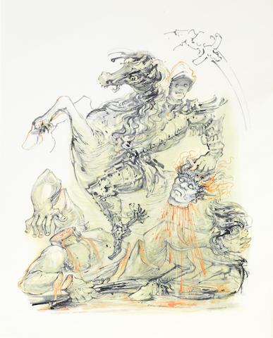 CLERICI, FABRIZIO, illustrator. 1913-1993. ARIOSTO, LUDOVICO.  Orlando Furioso. Milan: Electa, 1967.
