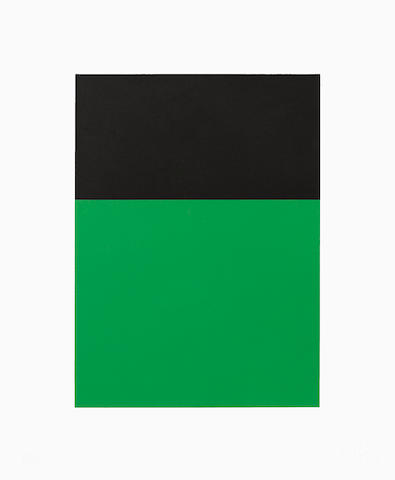 Ellsworth Kelly (born 1923); Black/Green;