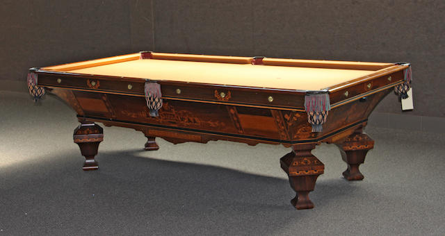 "A Brunswick ""Brilliant Novelty"" pool table second half 19th century"