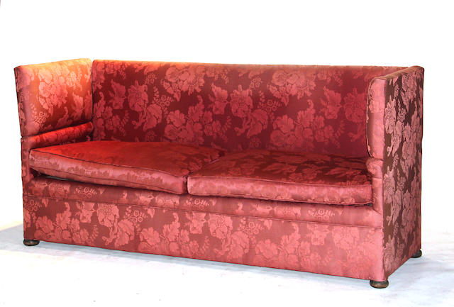 A Knoll style upholstered sofa 20th century