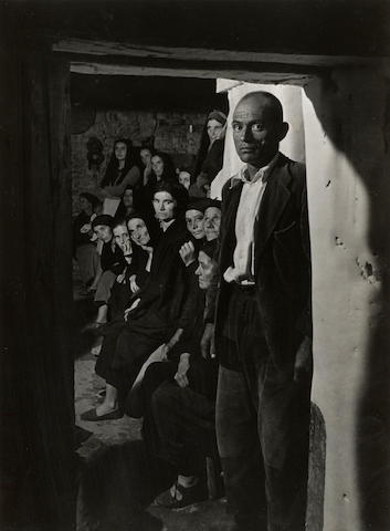 W. Eugene Smith (1918-1978); Wake-Man in Doorway, from Spanish Village series;