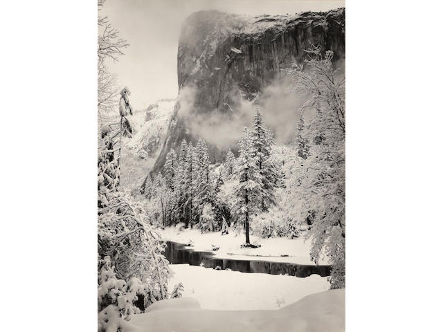 Ansel Adams (1902-1984); El Capitan, Winter, Yosemite National Park; Morning, Merced River Canyon, Yosemite National Park ; (2)