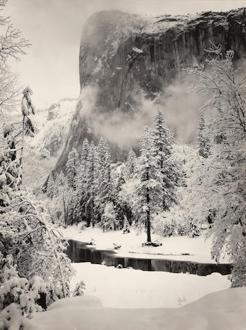 Ansel Adams (1902-1984); El Capitan, Winter, Yosemite National Park; Morning, Merced River Canyon, Yosemite National Park; (2)