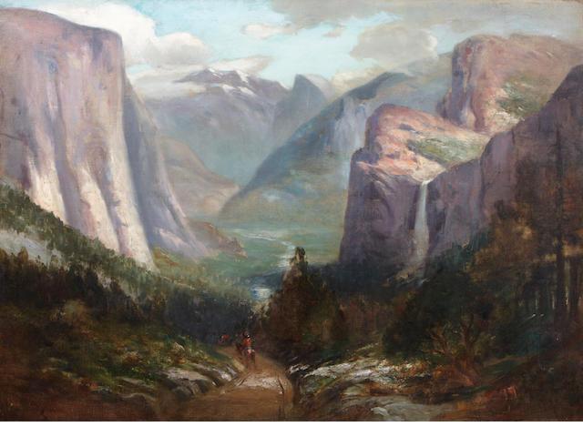 Jules R. Mersfelder (American, 1865-1937) Yosemite Valley from near Inspiration Point 30 x 40in