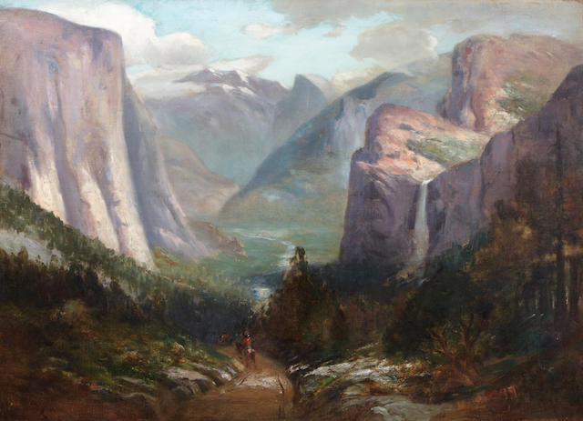Jules R. Mersfelder (American, 1865-1937) Yosemite Valley from near Inspiration Point 30 x 40in
