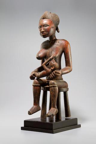 Baule Maternity Figure, Ivory Coast