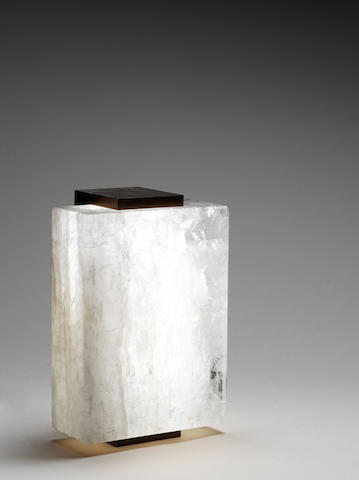 A bronze and rock crystal table lamp - Paul Belvoir, English