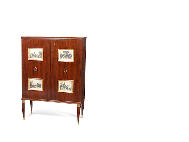 A two door cabinet / bar, Paolo Buffa, Italian c 1940