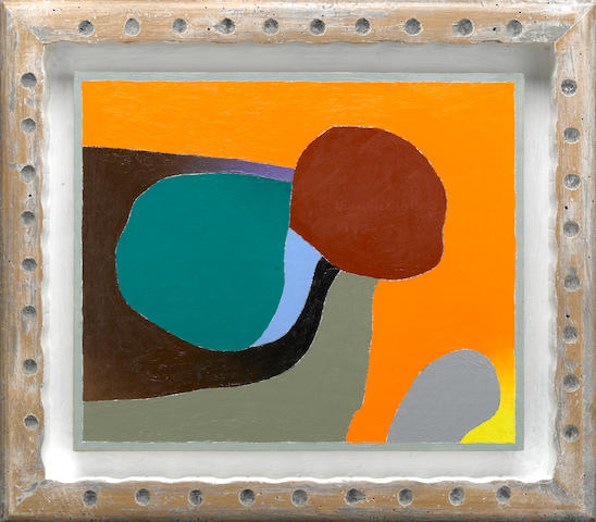 Frederick Hammersley (1919-2009) Ego Lesson, #13, 1992-93 framed 14 1/2 x 16 1/2in (36.8 x 41.9cm)