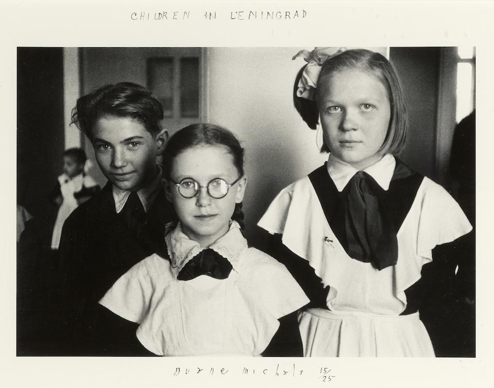Duane Michals (American, born 1932); Children in Leningrad;