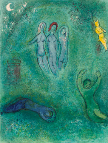 Marc Chagall (1887-1985); Daphnis's Dream and The Nymphs, from Daphnis and Chloé;