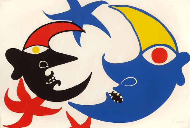 Alexander Calder (1898-1976); Les Deux Lunes;