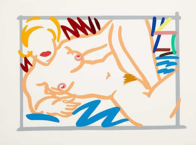 Tom Wesselmann (1931-2004); Judy on Blue Blanket;