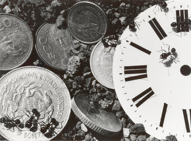 David Wojnarowicz (1954-1992); Untitled (Clock/Coins), from The Ant Series;