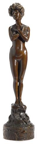 A bronze female nude <BR />Walter Winans (British/American, 1852 – 1920)